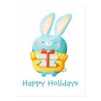 El conejito del navidad postales