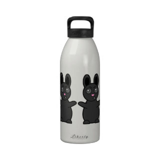 El conejito gruñón tiene carne de vaca con USTED Botella De Agua Reutilizable