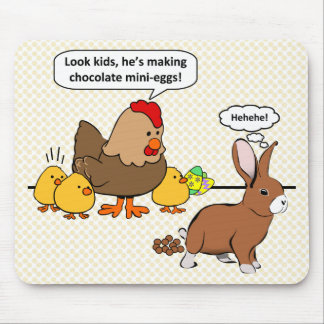 El conejito hace impulso del chocolate el dibujo a tapetes de ratones