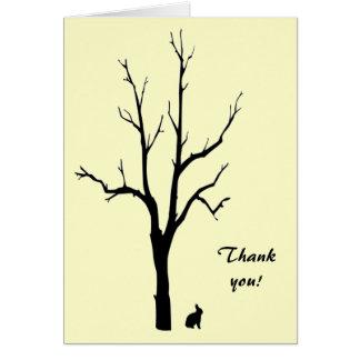 El conejito le agradece felicitacion
