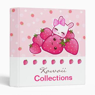 """El conejito lindo ama la fresa del kawaii carpeta 1"""""""