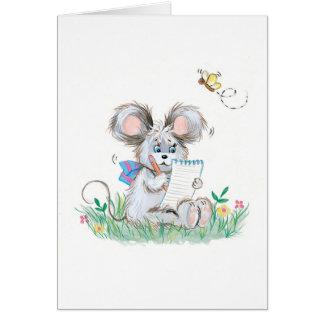 El conejito lindo embroma la tarjeta de cumpleaños