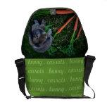 El conejito masca zanahorias/la bolsa de mensajero bolsas de mensajería