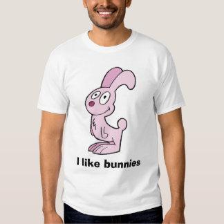 El conejito rosado loco, tengo gusto de conejitos. playera
