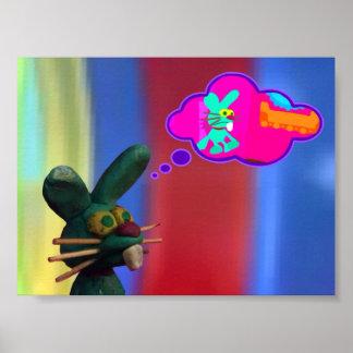 El conejito se imagina el ser animado póster