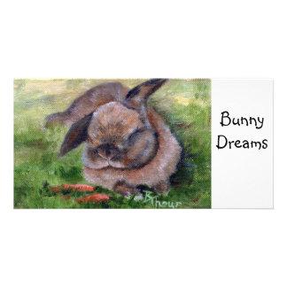 El conejito soña la tarjeta de la foto tarjetas fotograficas personalizadas