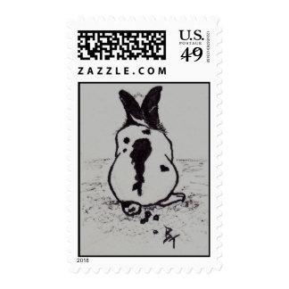 El conejito va Oops los sellos