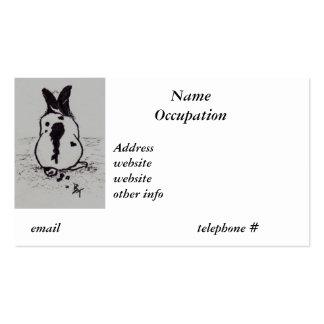El conejito va Oops tarjeta de visita