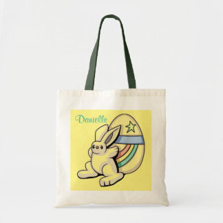 El conejito y el tote del presupuesto del amarillo