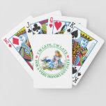 El conejo blanco acomete por Alicia en el país de  Baraja Cartas De Poker