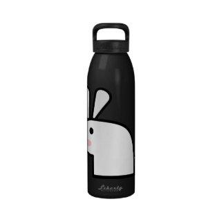 El conejo blanco botella de agua reutilizable
