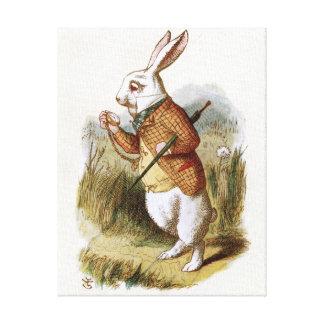 El conejo blanco - Alicia en el país de las maravi Impresion En Lona