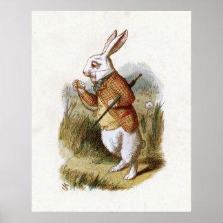 El conejo blanco - Alicia en el país de las maravi Póster