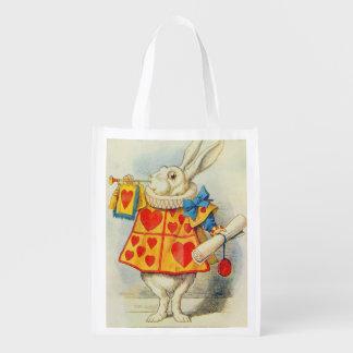 El conejo blanco bolsas reutilizables