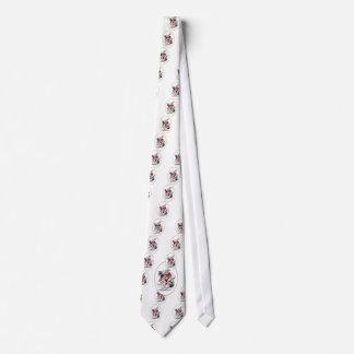 El conejo blanco corbata personalizada