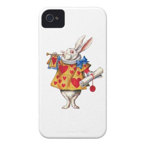 El conejo blanco de Alicia en el país de las iPhone 4 Case-Mate Cobertura