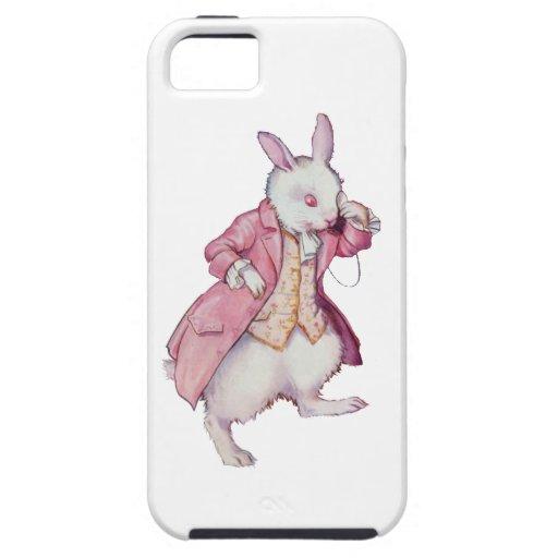 El conejo blanco de Alicia en el país de las marav iPhone 5 Cárcasas