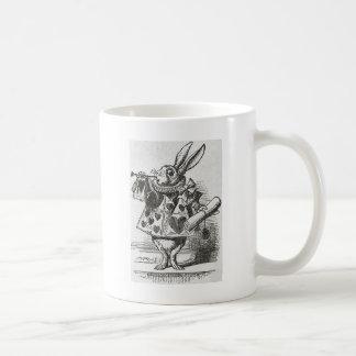 El conejo blanco de Alicia en el país de las marav Tazas De Café
