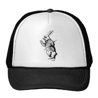 El conejo blanco - entintado gorras de camionero