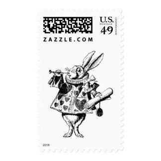 El conejo blanco Herald entintó negro Sellos