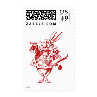 El conejo blanco Herald entintó rojo Sellos