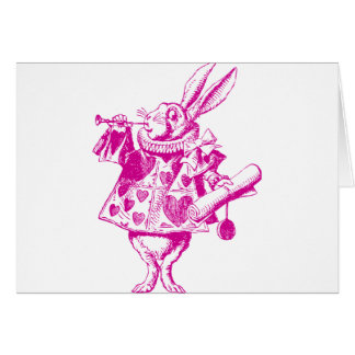 El conejo blanco Herald entintó rosa Tarjetón