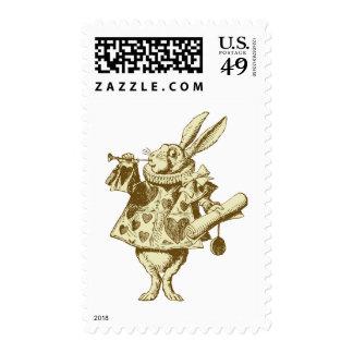 El conejo blanco Herald entintó sepia Sellos
