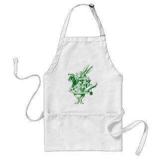 El conejo blanco Herald entintó verde Delantal