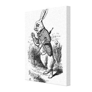 El conejo blanco impresiones en lona estiradas