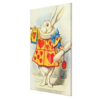El conejo blanco impresiones en lona