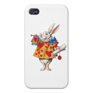 El conejo blanco llama la corte para ordenar iPhone 4/4S carcasa