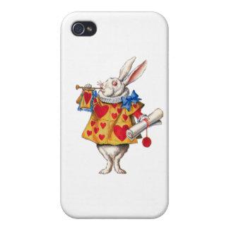 El conejo blanco llama la corte para ordenar iPhone 4/4S funda