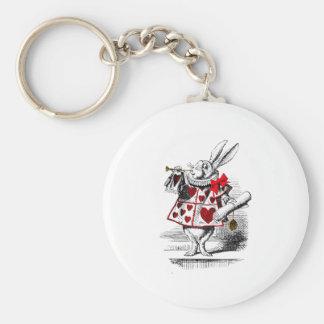 El conejo blanco llaveros personalizados