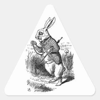 El conejo blanco calcomania trianguladas personalizadas