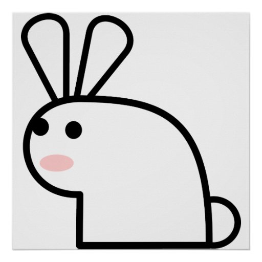 El conejo blanco póster