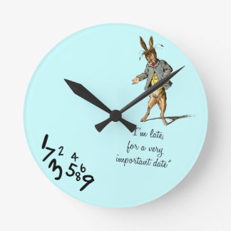 """El conejo blanco """"soy últimos"""" wallclocks relojes de pared"""