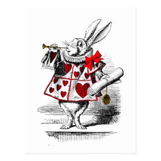 El conejo blanco tarjeta postal