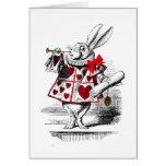 El conejo blanco tarjetas