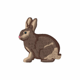 El conejo bordado personalizable junta con te y su