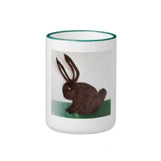 El conejo de Brown Taza De Dos Colores