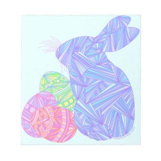 El conejo de conejito azul de pascua Eggs el mini Blocs De Papel