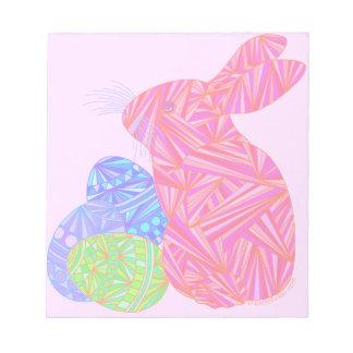 El conejo de conejito rosado de pascua Eggs el Bloc De Papel