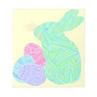 El conejo de conejito verde de pascua Eggs el mini Bloc De Papel
