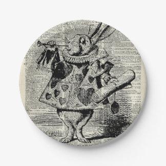 El conejo de Whitte Plato De Papel De 7 Pulgadas