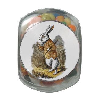 El conejo del blanco de Alicia del cuarto de niños Frascos Cristal