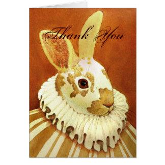 El conejo del Victorian le agradece cardar Felicitación