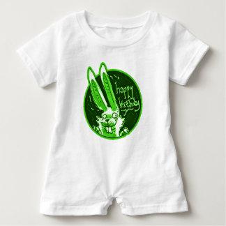 el conejo divertido confuso dice el dibujo animado body para bebé