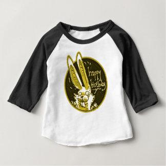 el conejo divertido confuso dice el dibujo animado playera de bebé