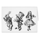 El conejo, el sombrerero y Alicia del país de las  Tarjetas