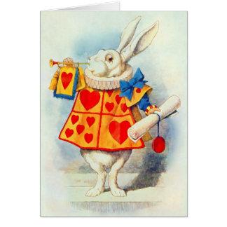 El conejo en Alicia en tarjeta del ~ del país de